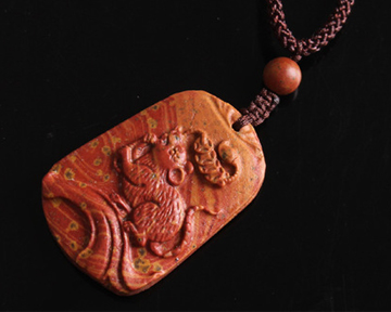 Red Stone Needle Pendant_For Blessing