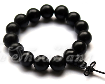 Health Energy Bracelet -Made of Black Stone Needle(15mm Pearls)