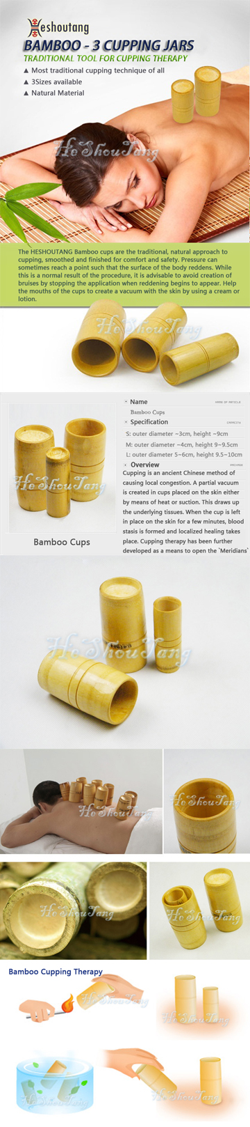bamboo cupping, cupping therapy, cupping set